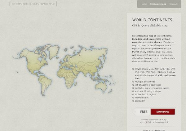 CSSで世界地図を作ることが出来る Clickable Maps がくそ便利で泣きそう。